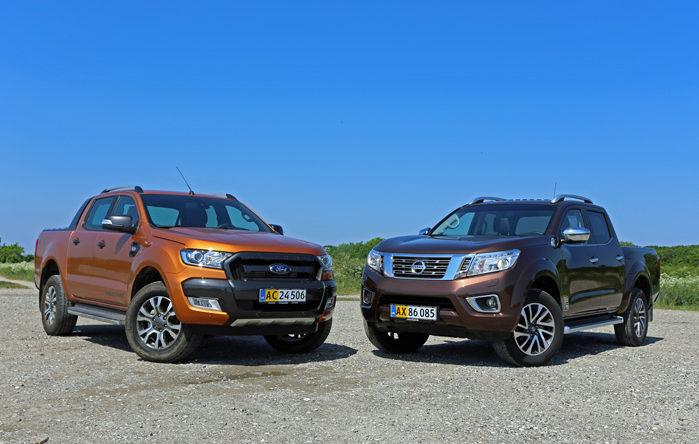 Toyota Hilux sidder på en tredjedel af segmentet med VW Amarok på andenpladsen, Men de to mest interessante burde være den nye Ranger og den moderne Navara