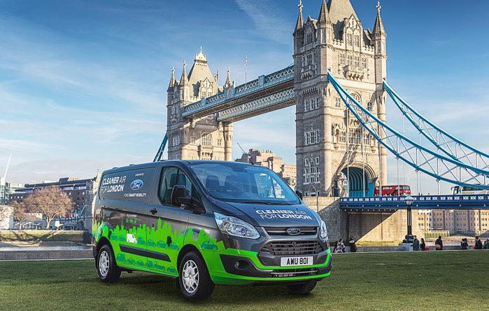 Til efteråret får London æren af at teste ny teknologi for Ford med de første Transit Custom plugin hybrid