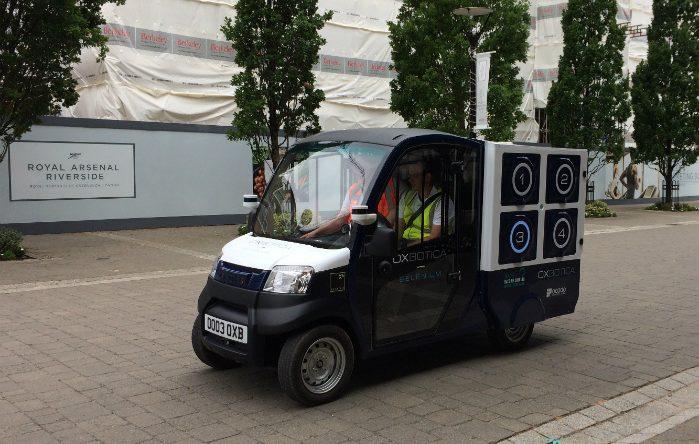 CargoPod bragte dagligvarer ud til 100 kunder i det sydøstlige London