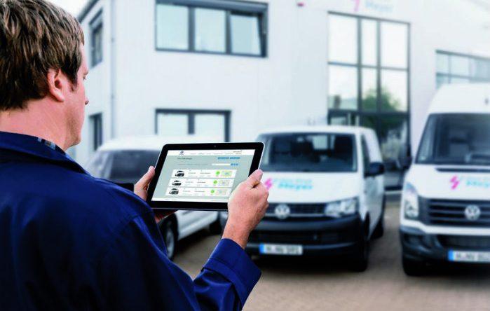 Volkswagen har bragt telematik ind i sine erhvervskøretøjer med systemet ConnectedVan. Foto: VW